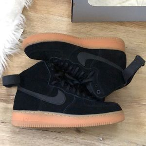 High Top Suede Air Force Ones, Size 10